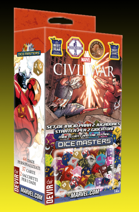 Marvel Dice Masters: Civil War- Set de inicio para 2 jugadores